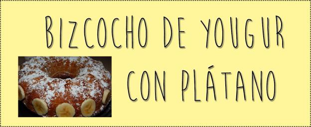 bizcocho de yougurt con platano